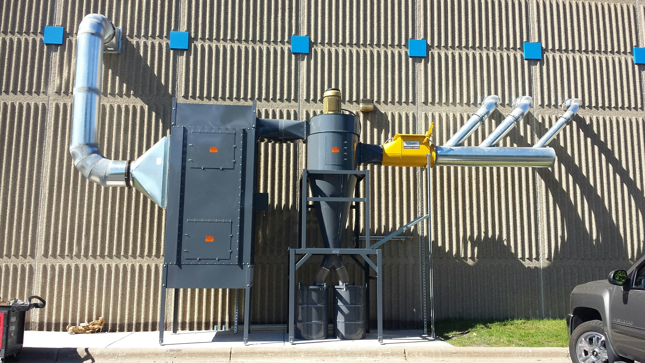 Installed Dust Removal System at the Carpenters & Joiners Training Center in St. Paul, MN
